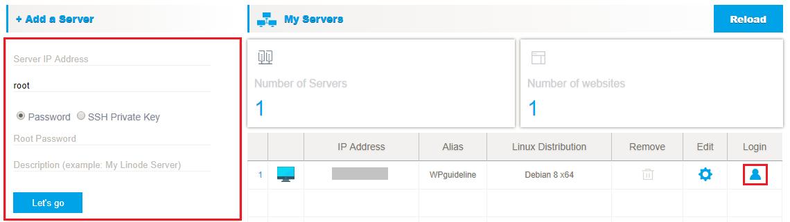 Add server in VPSrobots.