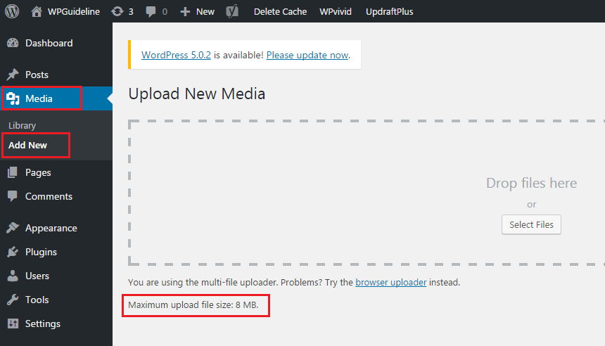 Maximum upload file size