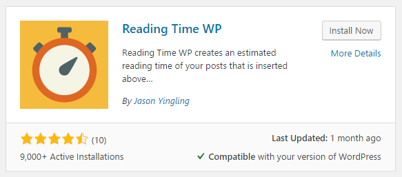 Install Reading Time WP