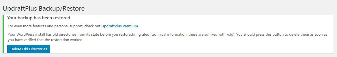 Delete old directories