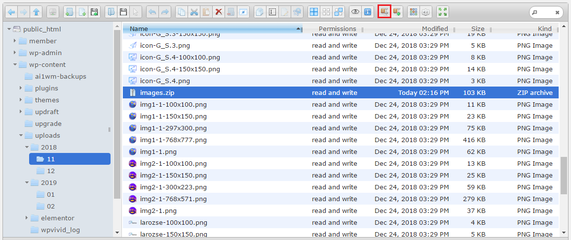 Extract file
