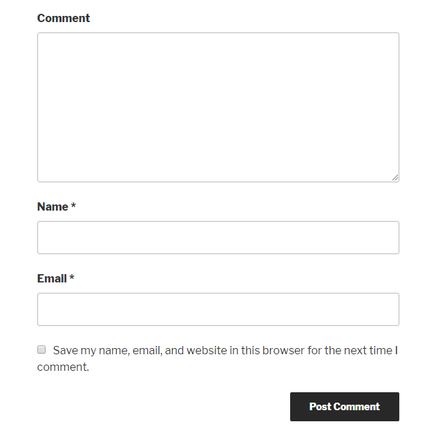 Remove website URL field from comment form