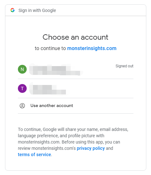 Sign in with Google