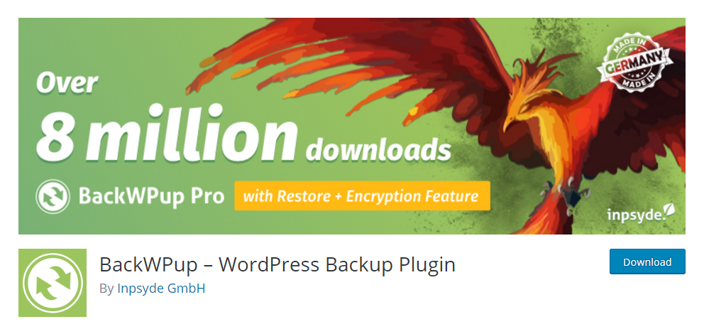 BackWPup - the perfect WordPress backup plugin