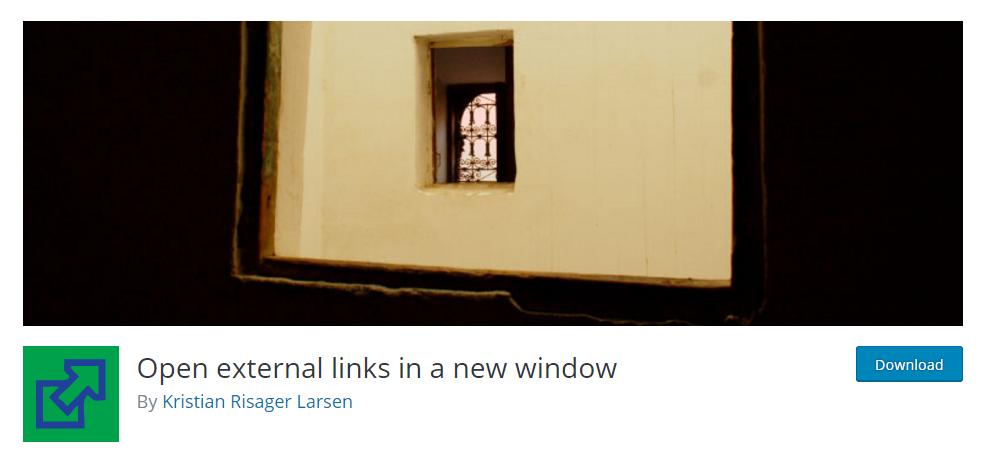 Open external links in a new window plugin