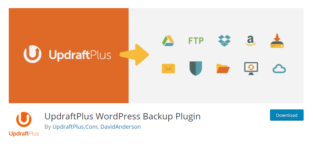UpdraftPlus - the most trusted WordPress backup plugin in glode.