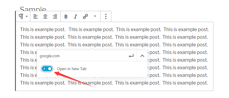 Enable the option of 'open in new tab'