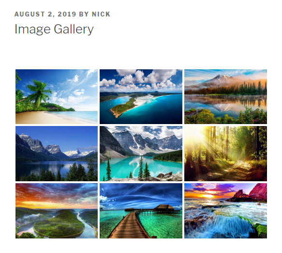 Create an image gallery with NextGen Gallery plugin