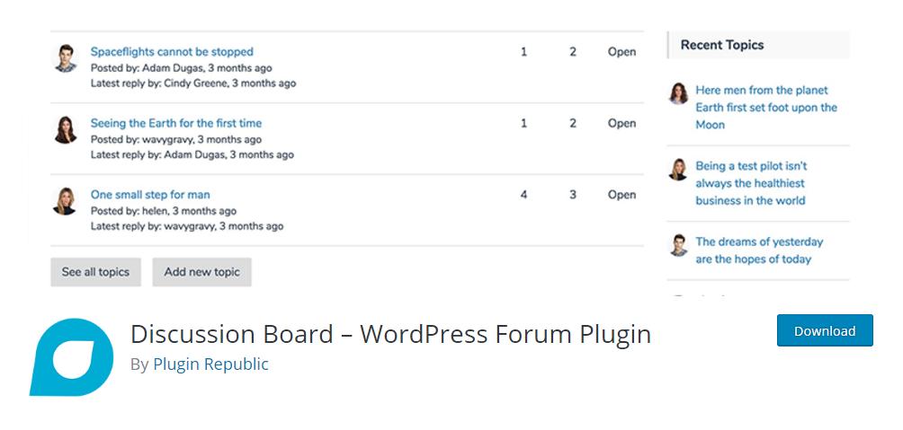 Discussion Board - WordPress forum plugin
