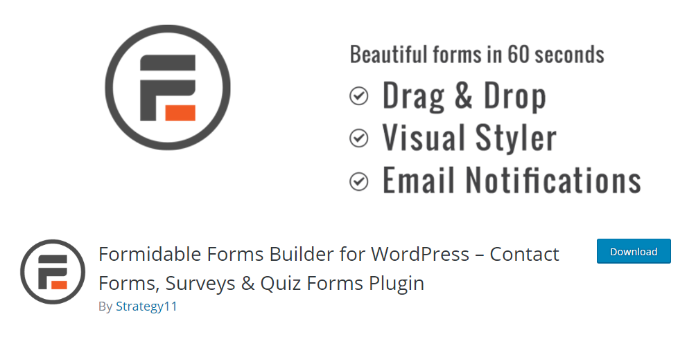 Formidable Forms Builder for WordPress
