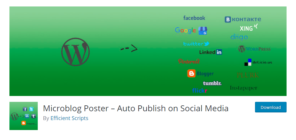 Microblog Poster - Auto publish on social media