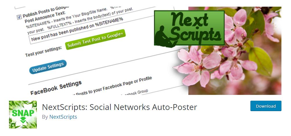 NextScripts social networks auto-poster plugin
