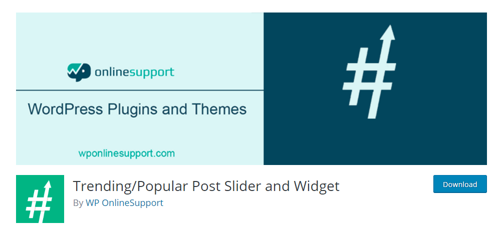 Trending/Popular post slider and widget