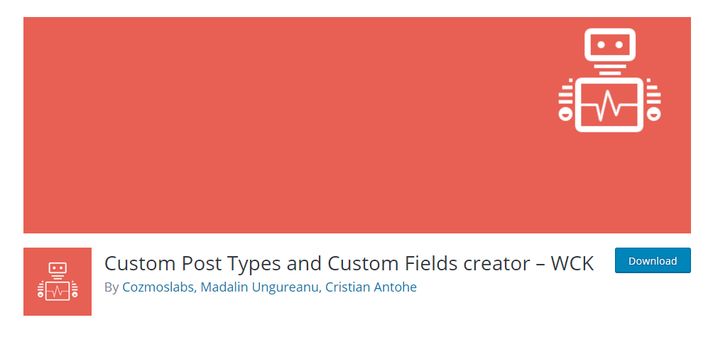 WCK - Custom post type plugin