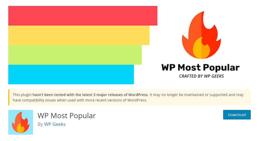 WP most popular plugin
