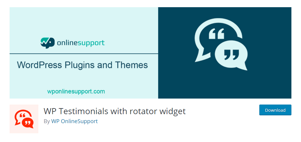 WP Testimnials with rotator widget