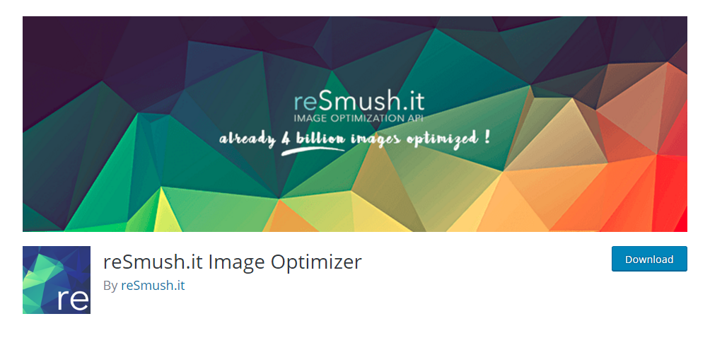 reSmush.it Image Optimizer plugin