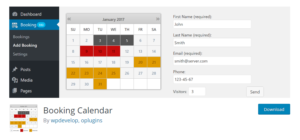 Booking Calendar - WordPress booking plugin