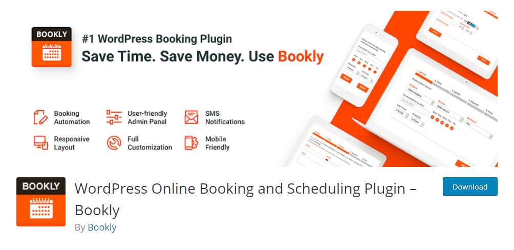 WordPress Online Booking and Scheduling Plugin - Bookly