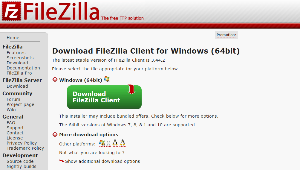 FileZilla - FTP client
