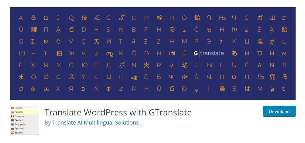 Translate WordPress with Gtranslate