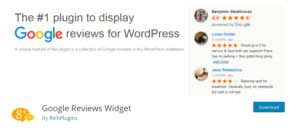 Google Reviews Widget - WordPress review plugin