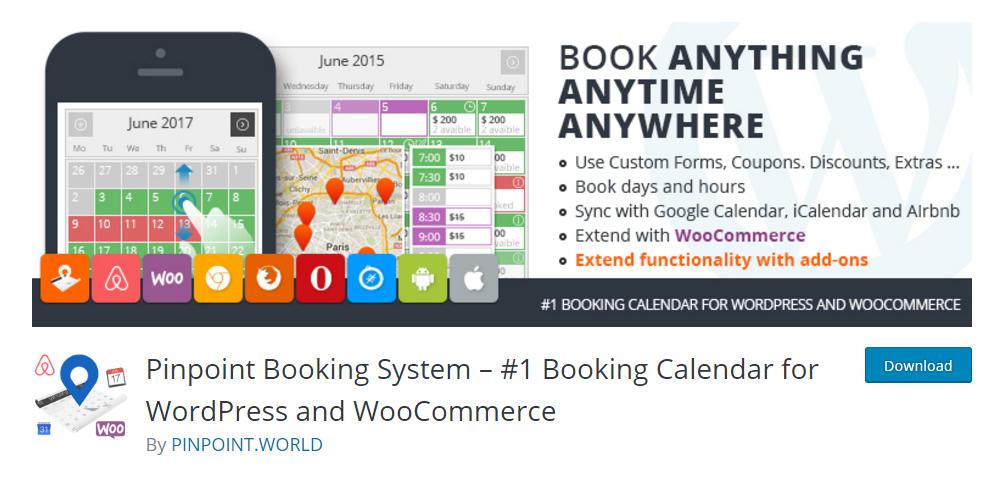 Pinpoint Booking System - WordPress booking plugin