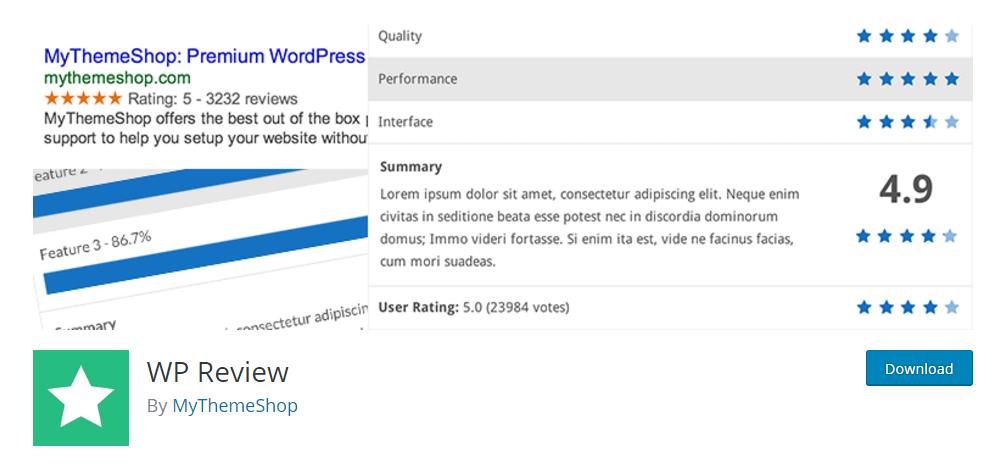WP Review - WordPress review plugin