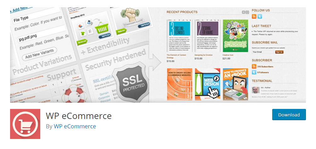 WP eCommerce plugin