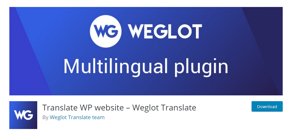 Weglot Translate - WordPress translation plugin