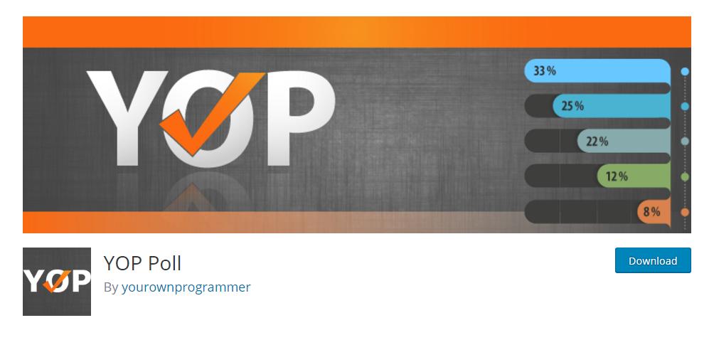 YOP Poll plugin - Create polls and surveys