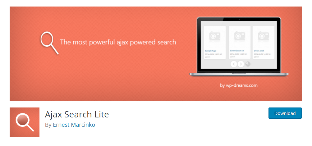 Ajax Search Lite - a live search plugin for WordPress