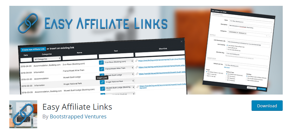 Esasy Affiliate Links - Affiliate link plugin