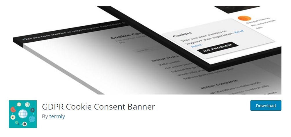 GDPR Cookie Consent Banner