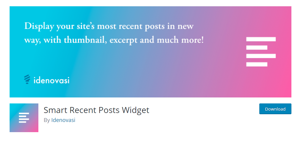 Smart Recent Posts Widget