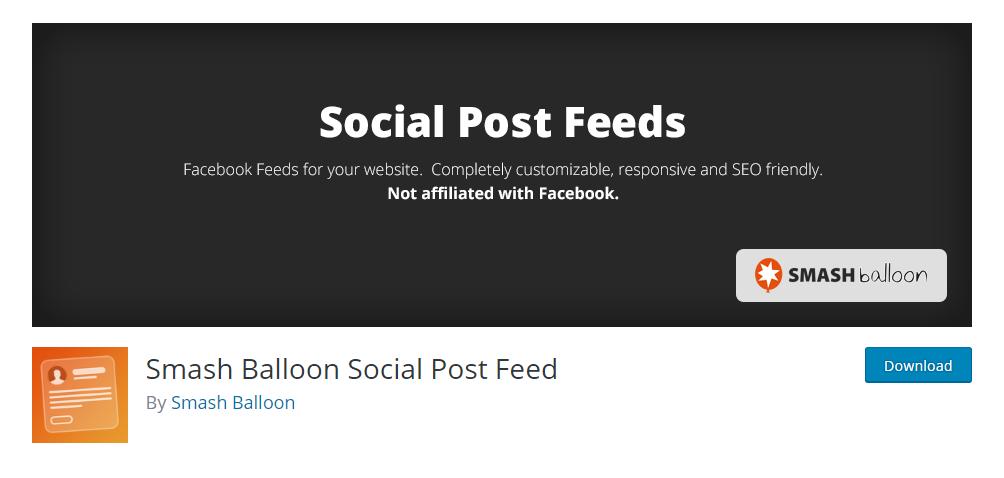 Smash Balloon Social Post Feed