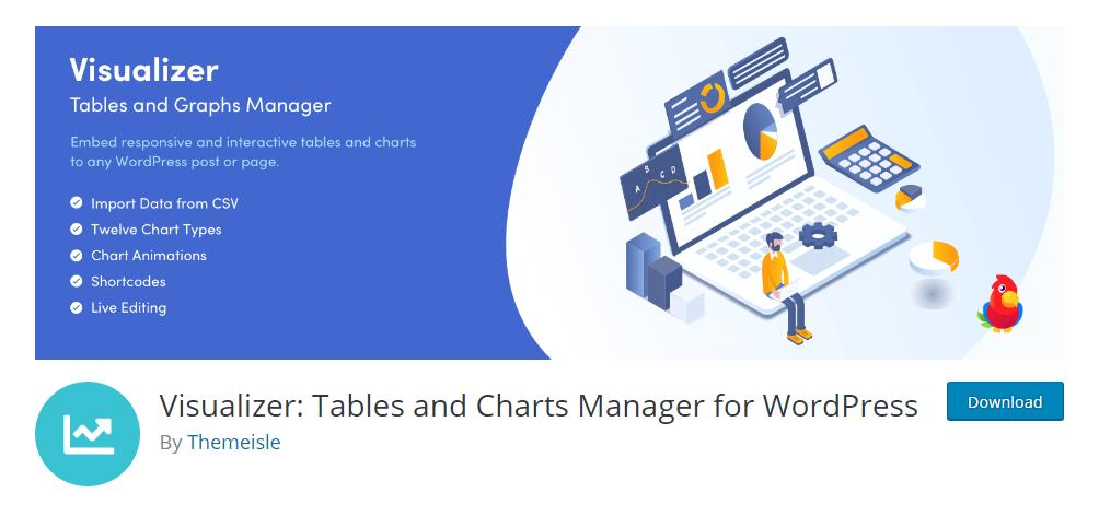 Visualizer - WordPress table plugin