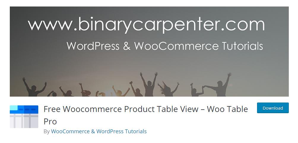Woo Table Pro - WordPress table plugin