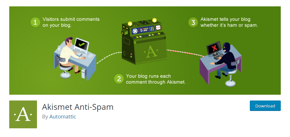 Akismet Anti-Spam - the most poopular anti-spam plugin