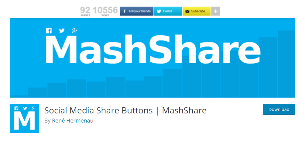Soical media share buttons - MashShare