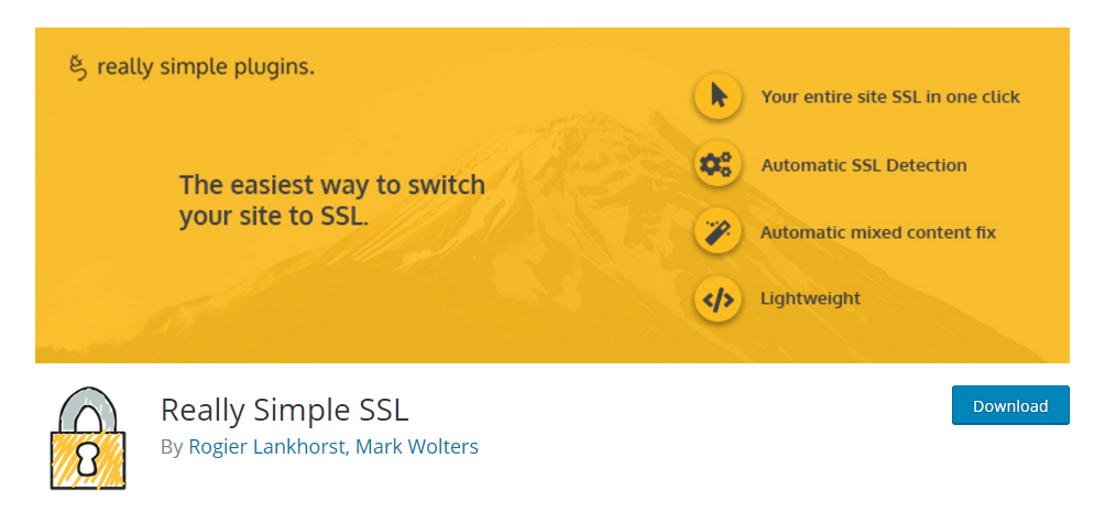 Really Simple SSL - the most popular WordPress SSL plugin