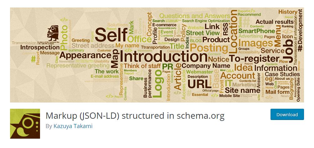 Markup (JSON-LD) structured in schema.org
