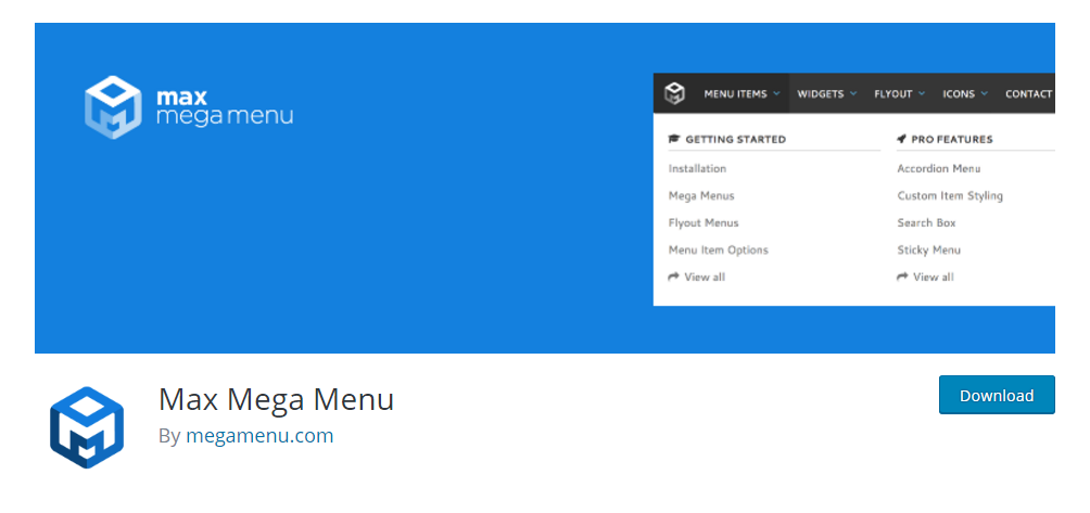 Max Mega Menu - the most popular WordPress menu plugin