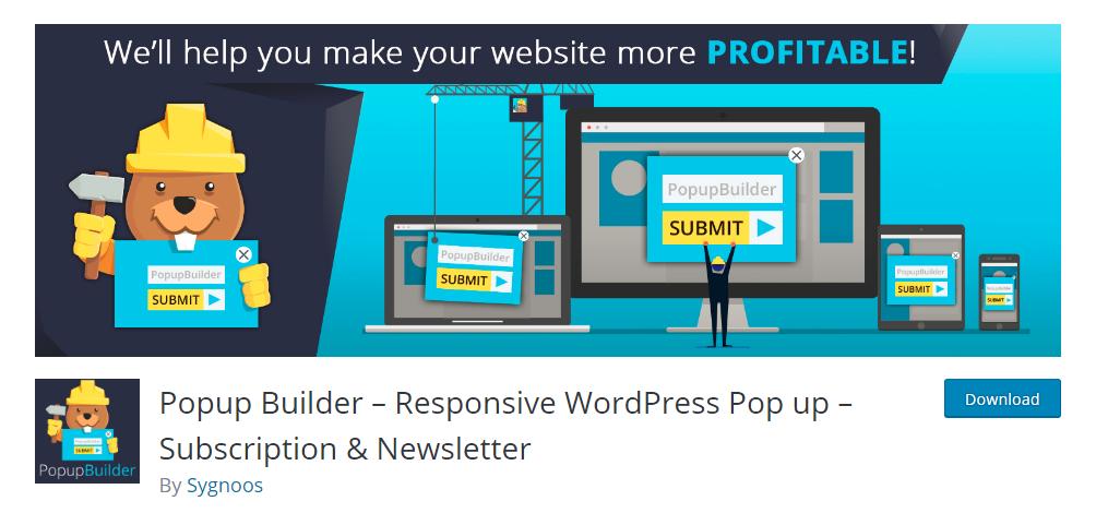 Popup Builder - Responsive WordPress Pop up - Subscription & Newsletter