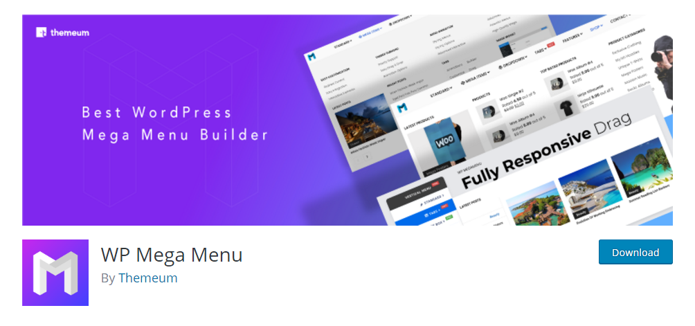 WP Mega Menu - WordPress menu plugin