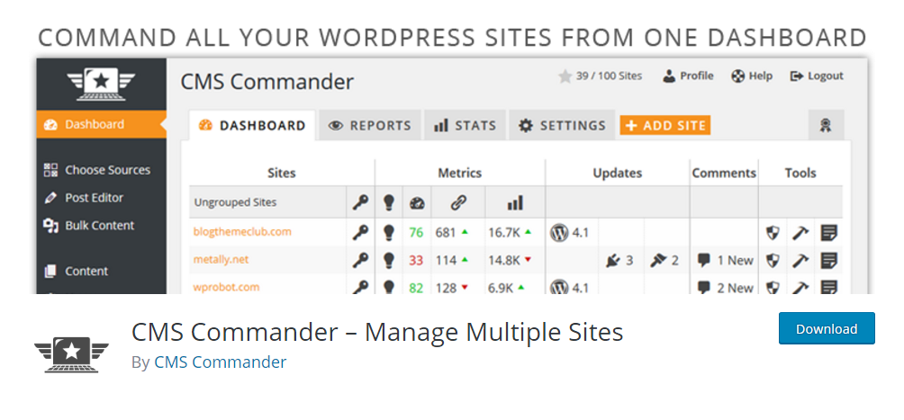 CMS Commander - Manage Multiple Sites