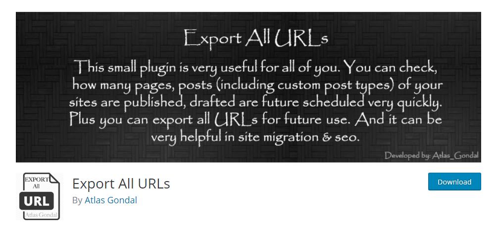 Export All URLs