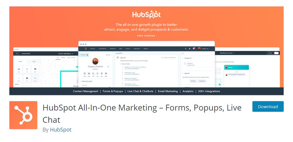 HubSpot All-In-One Marketing plugin