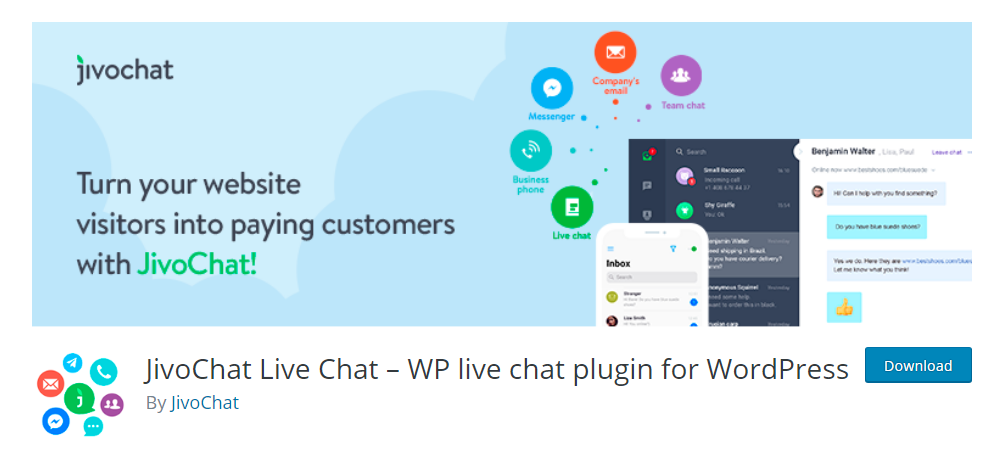 Jivo Live Chat - WP live chat plugin for WordPress