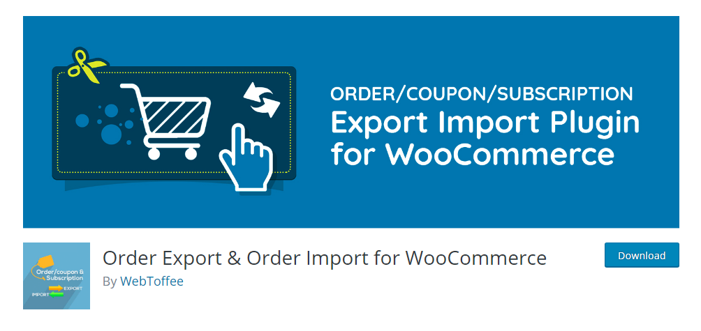Order Export & Order Import for WooCommerce